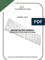 Orientações CONDIÇÕES ESPECIAIS EXAME _EB_NEE_0910