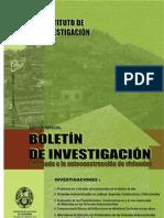 Boletin de Investigación. Autoconstrucción de viviendas