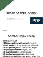 RESEP DAPOER COBEK