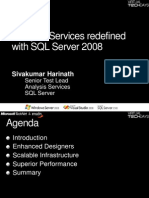 Analysis Services Redefined With SQL Server 2008 - Sivakumar Harinath
