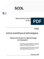 Socle Banque Culture Scientifique Technologique College Situations App Rent is Sage Evaluation