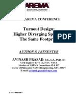 Turnout Design-Higher Diverging Speed in the Same Footprint