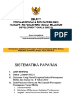 Pedoman Rencana Aksi Daerah (Rad) Mdgs