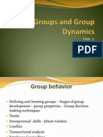 Unit 3 Groups and Group Dynamics