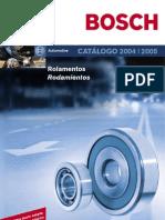 BOSCH CATÁLOGO DE ROLAMENTOS 2005