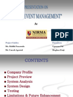 Online Event Management