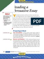 Reading a Persuasive Essay