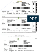 Denon Shiping Label