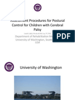 Assessment Procedures Control Cerebral Palsy