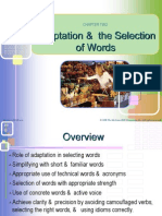2 Adaptation & Selection of Words