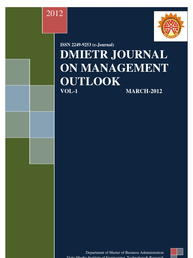 DMIETR JOURNAL March 2012 issue pdf | Organizational Culture