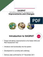 SAQRAT Improvements and Changes1