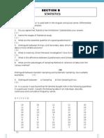 Statistics Question Paper