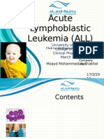 Acute Lymphoblastic Leukemia (ALL)