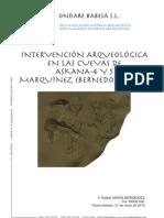 Intervención Arqueológica en las cuevas de Askana 4 y 5, Marquínez (Bernedo, Álava)