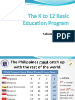 DEPED - The K to 12 Basic Education Programv2 - 2012