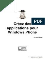 Créer des applications Windows Phone