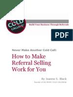 No More Cold Calling eBook Referrals