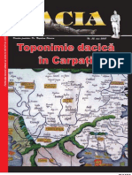 Toponimie Dacica in Carpati