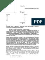 Correcção do teste de 16 de Abril 2012