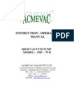 Instruction Manual for SSP-70D-ACMEVAC