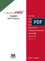 Projector Manual PJ402D