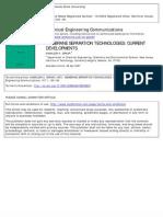 Membranr Separation Technologies