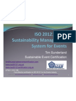ISO 20121 Event Sustainability (Iso20121)