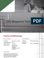 CIO Tech Poll 2012