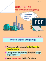 Ch 12 Capital Budgeting