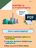 Ch 12 Capital Budgeting