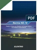 Elektro ND.16 postes e caixs para Medição Unidades Consumidoras