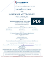 Reception for Romney Victory Inc.