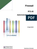 CP R75.40 Firewall Admin Guide