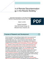 Development of Remote Decontamination Technology in the Reactor Building