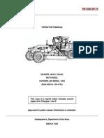 Operator Manual Grader 130G CAT