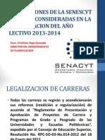 Presentacion Disposiciones Senescyt Consider Ad As Planificacion 2013-2014