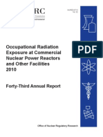 2010_FINAL_NUREG 0713 - Occupational Radiation Exposure at Commercial Nuclear Power Reactors And Other Facilities 2010