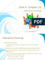 Unit 4 - Chapter 21 - Operations Planning (1)
