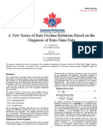 A New Series of Rate Decline Relations