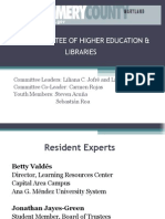 Higher Education and Libraries