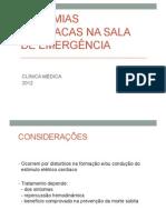 ARRITMIAS CARDÍACAS NA SALA DE EMERGÊNCIA
