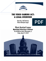 Legal Overview of the Video Gaming Act