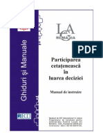 Participarea Cetateneasca in Luarea Deciziei