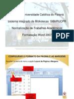 Tutorial para formatação word - 2007