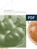 Onion Phytochemical and Health Properties