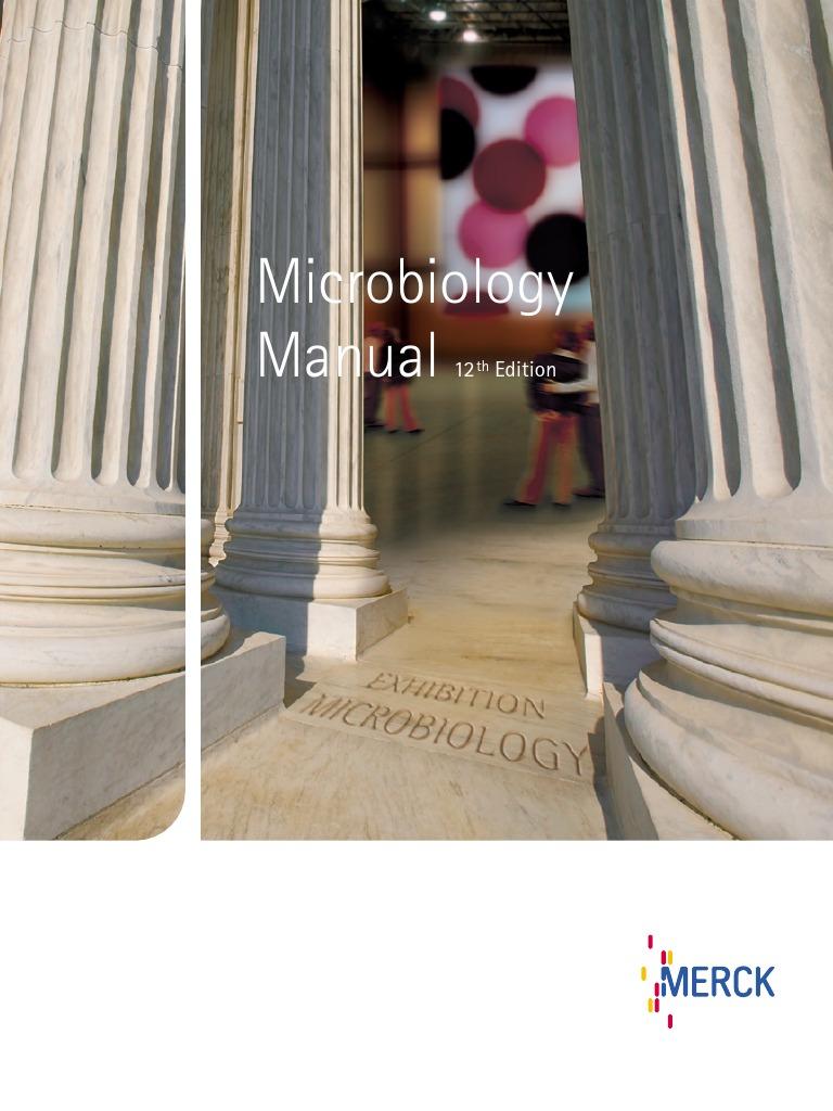 Merck microbiology manual 12th growth medium bacteria fandeluxe Images