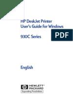 HP DeskJet Printer User's Guide for Windows 930c Series