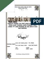 Chi phí & Giá thành Công ty CP In và DV Đà Nẵng