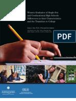 SAX-Single Sex Education Report